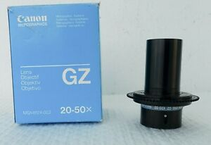 Canon Gz 20 50x Microfilm Zoom Lens Objective Mg1 8124 002 Microfiche Scanner