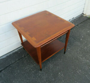 Mid Century Modern Dovetailed Inlaid Side End Table By Lane Furniture 9532