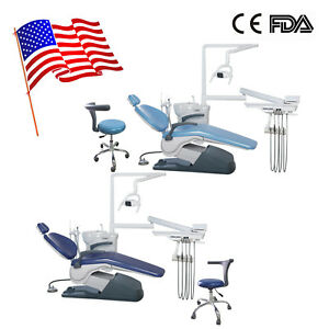 Computer Controlled Dental Chair Unit A1 110v W Doctor Stool Fda Dc Motor Blue