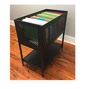 Mobile File Organizer Portable Rolling Cart Office Cabinet On Wheels Heavy Duty