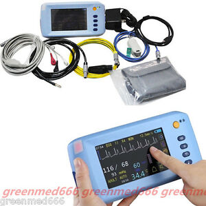 Medical Touch Lcd 5 parameter Vital Signs Patient Monitor Ecg Nibp Spo2 Hospital