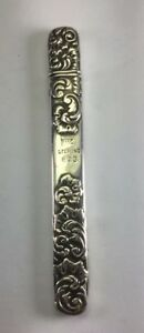 Antique C1890 Foster Bailey Sterling Silver Repousse Nail File Case M107