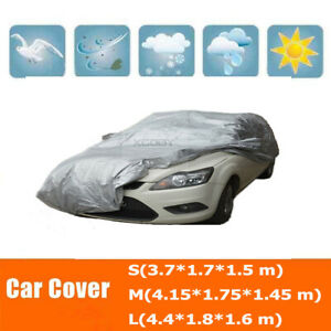 Size S Full Car Cover Waterproof Uv Sun Snow Dust Scratch Rain Resistant