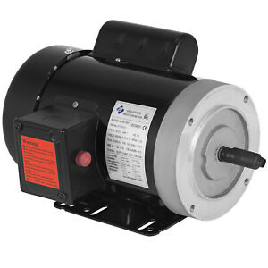 1 Hp 1800 Rpm Single Phase 240v 56c Frame Electric Air Compressor Motor 5 8