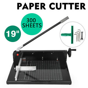 19 Width Guillotine Paper Cutter Heavy Duty Stack Paper Trimmer Strong Packing