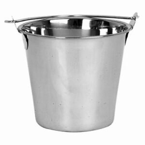 Thunder Group Slpal020 20 Qt Stainless Steel Pail 12 Per Case
