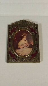 Vtg Action Ornate Small Brass Picture Frame Made In Italy Vintage