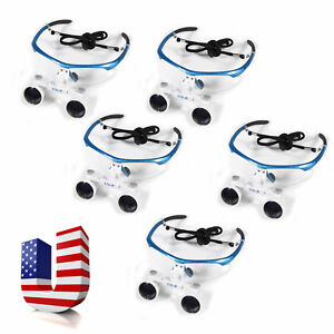 5 Dental 3 5x r Surgical Loupes Magnifier Binocular Glasses Large Depth View Us