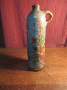 Antique 1800 S German Nassau Selters Stoneware Clay Bottle Jug Salt Glaze
