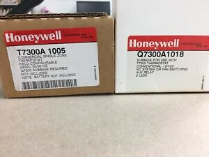 Honeywell T7300a1005 Commercial Single Zone Thermostat With Sub Base new In Box