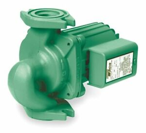Taco 1 8 Hp Cast Iron In Line Wet Rotor Hot Water Circulator Pump