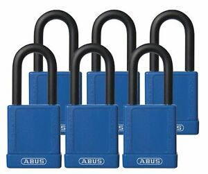 Abus Blue Lockout Padlock Alike Key Type Master Keyed No Aluminum Body