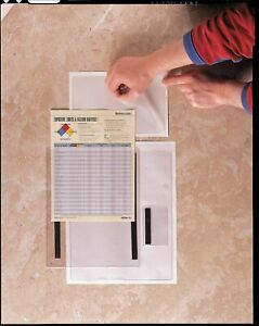 Baw Plastics Document Holder Self Adhesive 5x8in Pk50 28905 2