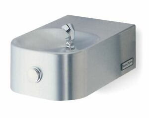 Halsey Taylor Stainless Steel Push Button Drinking Fountain 7433003683