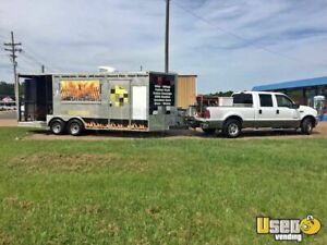 2014 Bbq Concession Trailer With Porch W Truck For Sale In Mississippi