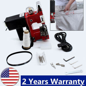 Industrial Portable Electric Bag Stitching Closer Seal Sewing Machine Tool Us