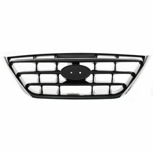 For 2004 2005 2006 Hyundai Elantra Front Grille Chrome Black Without Fog Lamp
