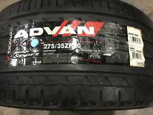 2 New 275 35 20 Yokohama Advan Sport Tires