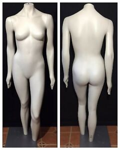 Vintage Jcpenney Retail Display Female Mannequin Full Body Dress Form Metal Base