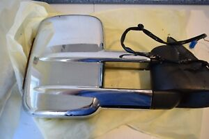 Tow Mirror Power Chrome Pair Set For Gm 2500 Duramax Pickup Used