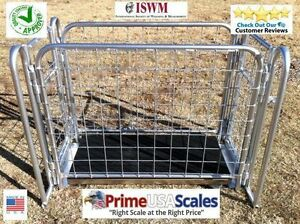 800 Lb Livestock Vet Scale Veterinary Goat Hog Scale Sheep Usa Made