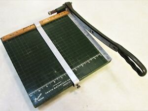 Vintage 11 X 11 Premier Paper Cutter By Photo Materials Co