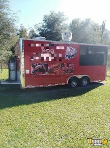 2016 8 X 20 Bbq Concession Trailer With Porch For Sale In Florida