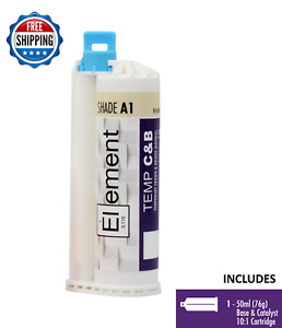 Element Temporary Crown And Bridge Material Cartridge 50ml 76g Dental Shade A1
