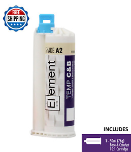 Element Temporary Crown And Bridge Material Cartridge 50ml 76g Dental Shade A2