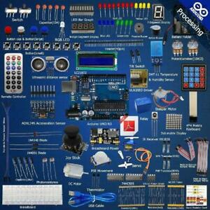 Ultimate Starter Learning Kit For Arduino Uno R3 Lcd1602 Servo Processing Set