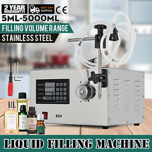 5 5000ml Digital 220v Liquid Filling Machine Filler Speed Automatic Button