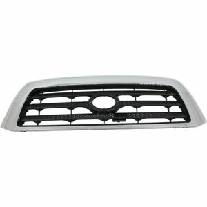 For 2007 2008 2009 2010 2011 Toyota Tundra Ft Grille Black W Chrome Frame Sr5
