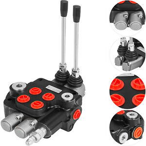 2 Spool Hydraulic Control Valve 21 Gpm Double Acting 80l min Cylinder Spool