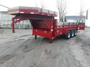 Dump Trailer 16x83 gooseneck 3 7000 load Trail 2016