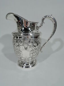 Frank M Whiting Talisman Rose Water Pitcher 1926 American Sterling Silver