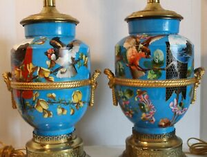 Wonderful Pair Of Aesthetic Victorian Lamps 19th Century