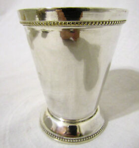 New In Box Silverplate Mint Julep Cup Set Of 6 Six Mark R S