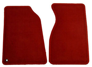 Oem Red Ford Front Carpeted Floor Mats Rare Fits 1987 1993 Ford Mustang