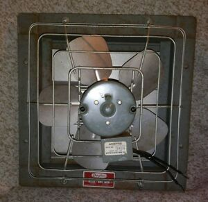 Vintage Dayton 10 Exhaust Fan Model 2c819 115v 60 Cycles Hp 1 40 1 0 Amp