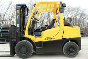 2012 Hyster H90ft Fortis Series Forklift 9000lb Capacity Pneumatic Tires Hyster
