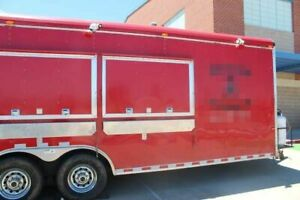 8 X 29 Mobile Kitchen Food Concession Trailer For Sale In Texas