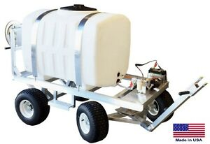 Sprayer Commercial Trailer Mounted 200 Gallon Tank 12v Electric Pump