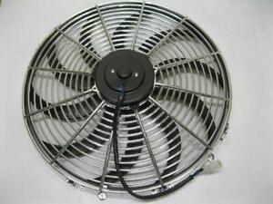 16 Chrome 3000 Cfm Heavy Duty Reversible Electric Cooling Fan Sbc Bbc Install