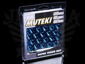 Muteki Super Tuner Lug Nuts Open ended Honda Acura 12x1 5 Blue