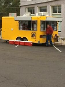 8 X 16 Food Concession Trailer Stand With Truck For Sale In Illinois