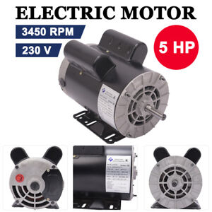 5 Hp 3450 Rpm Electric Air Compressor Duty Motor 56 Frame 5 8 Shaft 60 Hz 230v