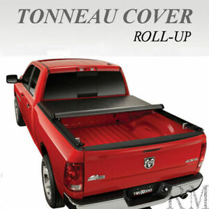 New Lock Roll Up Soft Tonneau Cover Fit 2014 2018 Chevy Silverado 6 5 Ft Bed