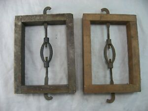 Deboer Bed Rail Headboard Footboard Pair Woodclamps Antique Vintage Syracuse Ny