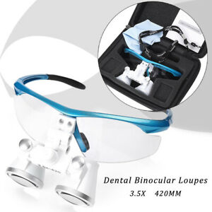 Dental Medical Binocular Loupes 3 5x 420mm Optical Glass Surgical Loupes Let