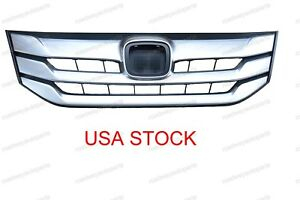 Bumper Chrome Billet Grille Grill For Honda Accord Crosstour 2013 2018 Front
